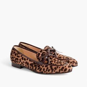 Jcrew academy loafers in leopard calf hair